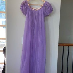 Vintage lingerie purple nightie with pink detail